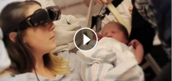 Blind Mother Saw Her Baby For First Time With Technology