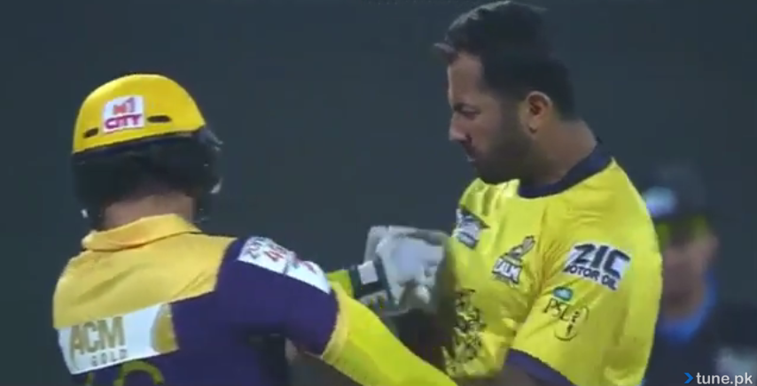 ahmad shehzad vs wahab fight