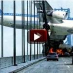 plane crash over the brigh