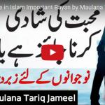 love-marriage-maulana-tariq-jameel-bayan